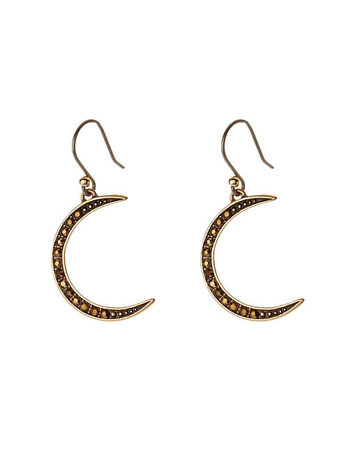 CRESCENT DROP EARRING, 715 GOLD