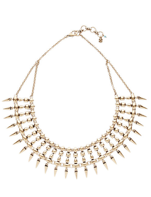 SPIKE COLLAR NECKLACE, 715 GOLD