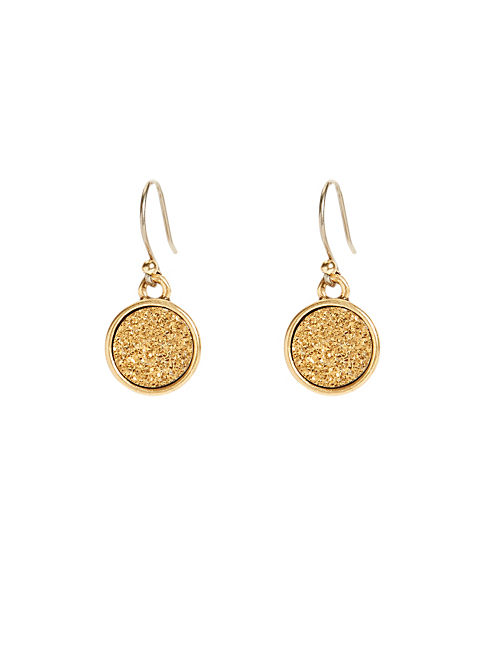 GOLD GEODE DROP EARRING, 715 GOLD