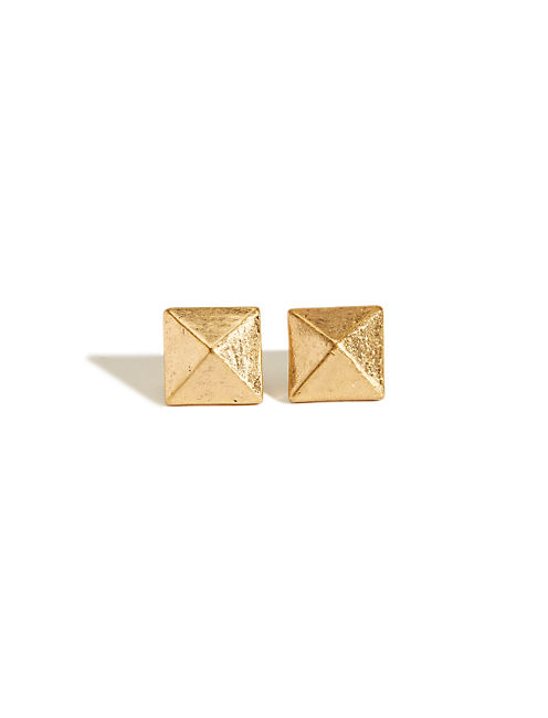 LARGE SPIKE STUD EARRING, 715 GOLD