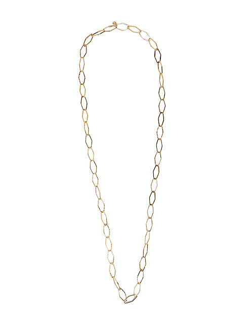 GOLD METAL LINK NECKLACE, 715 GOLD