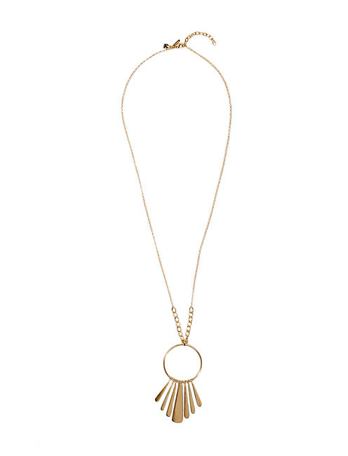 GOLD PADDLE NECKLACE, 715 GOLD