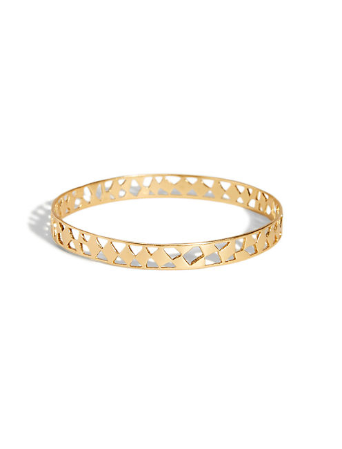 GOLD OPENWORK BANGLE, 715 GOLD