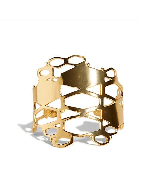 GOLD OPENWORK CUFF, 715 GOLD