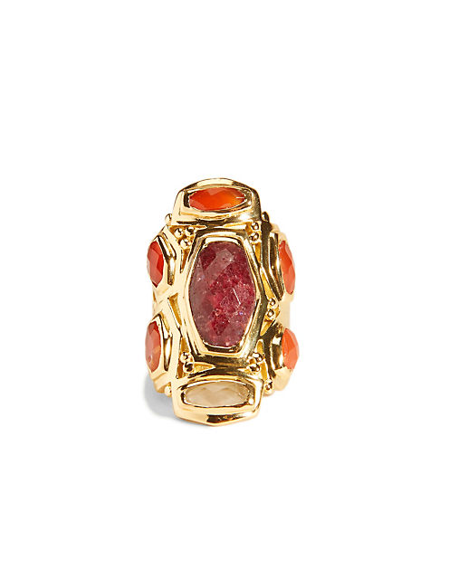 MULTI SET STONE RING, 715 GOLD