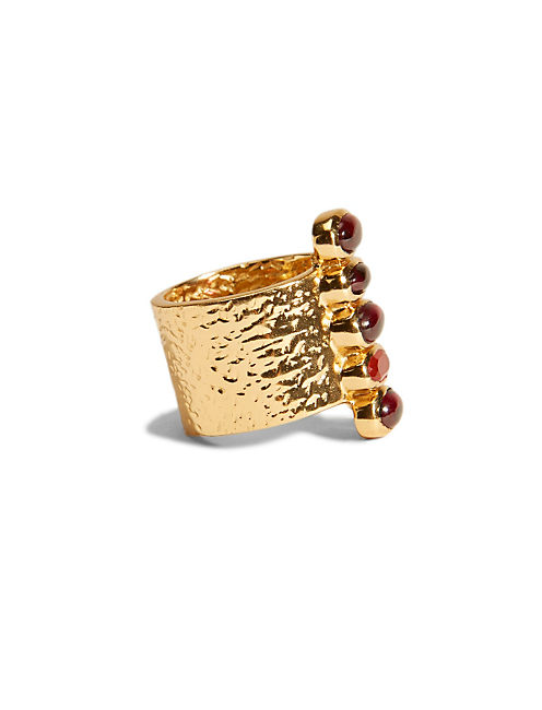 VERTICAL SET STONE RING, 715 GOLD