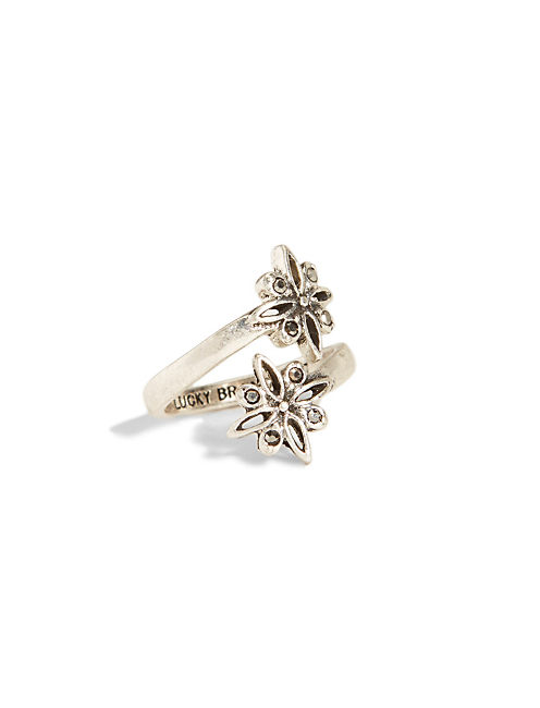 SILVER FLORAL WRAP RING, SILVER
