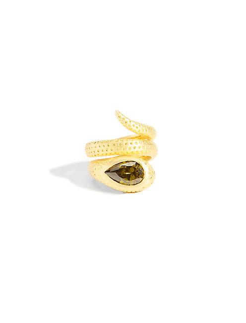 GOLD SNAKE RING, 715 GOLD