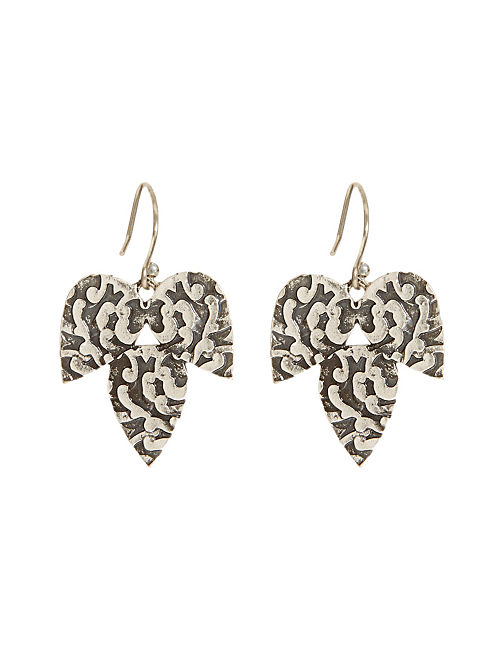 TURQ DROP EARRING, SILVER