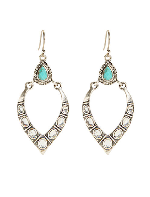 PAVE DROP EARRING, SILVER