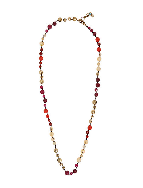 LONG BEADED NECKLACE, 715 GOLD