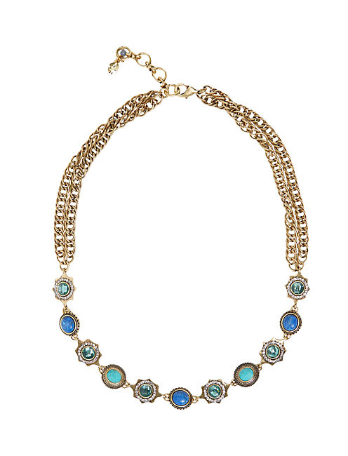 TURQ STRAND NECKLACE, 715 GOLD