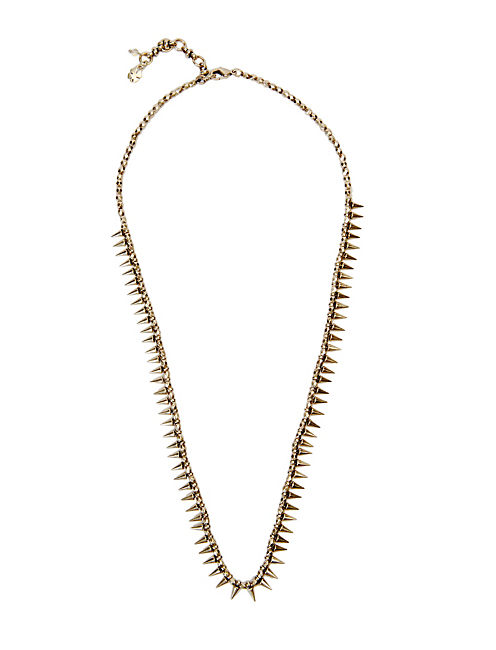SPIKED COLLAR NECKLACE, 715 GOLD