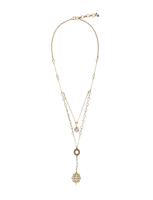 PAVE LAYER NECKLACE, 715 GOLD