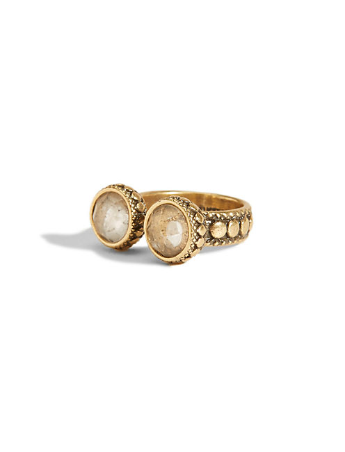 CLEAR DOUBLE RING, 715 GOLD