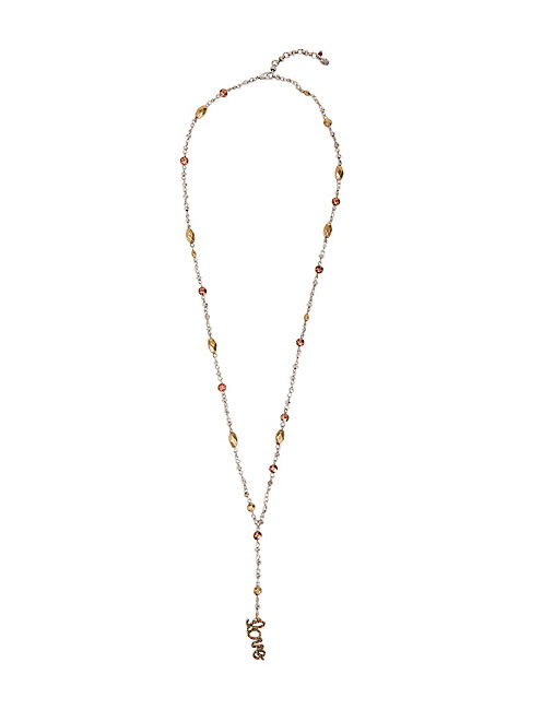 METAL ROSARY NECKLACE, MULTI