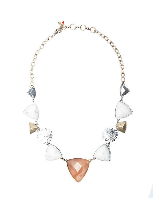 SET STONE COLLAR NECKLACE, MULTI