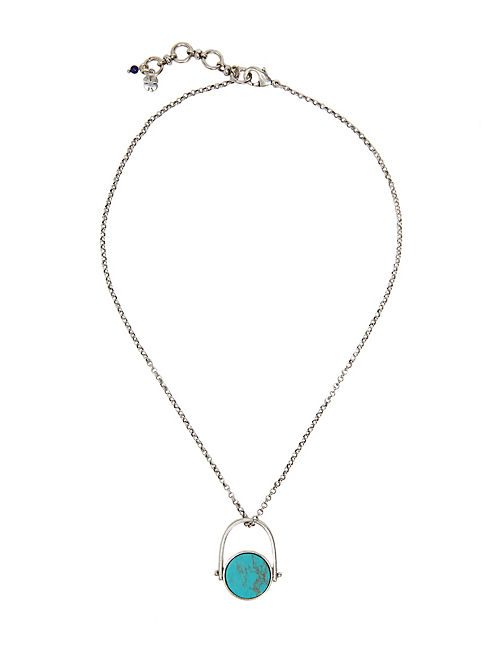 PAVE SILVER NECKLACE, SILVER