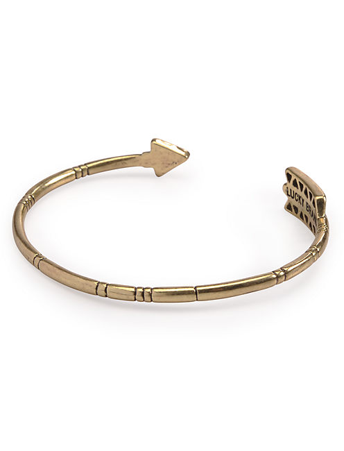 SET STONE ARROW CUFF, 715 GOLD