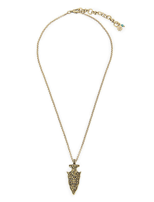 PAVE ARROWHEAD NECKLACE, 715 GOLD