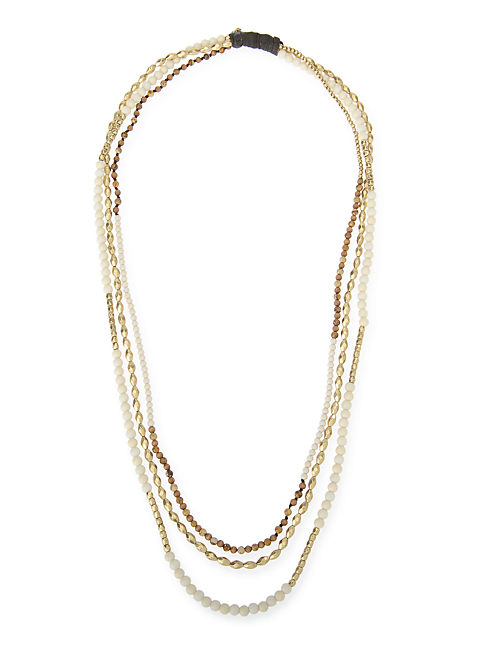 MULTI LAYER BEADED NECK, 715 GOLD