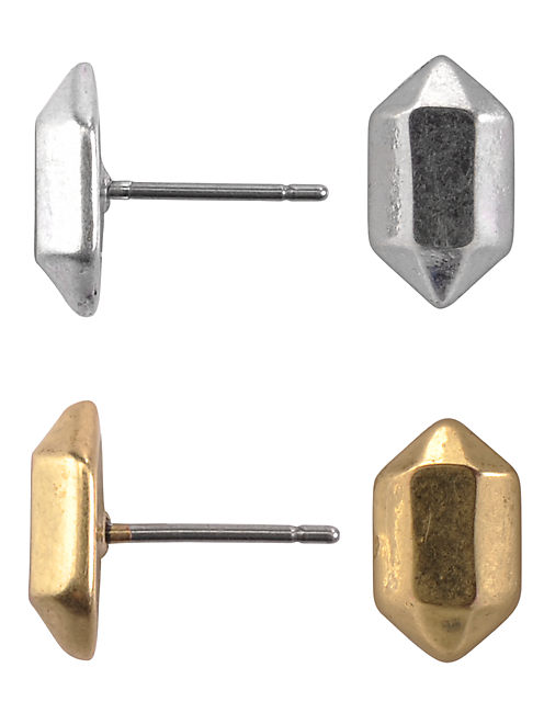 FACETED METAL STUD SET, MULTI