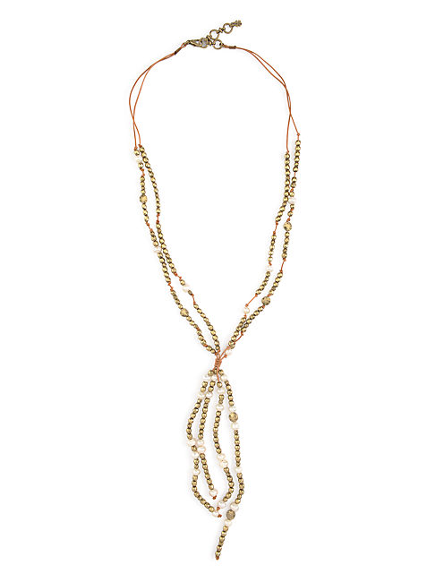 PEARL TASSLE NECKLACE, 715 GOLD