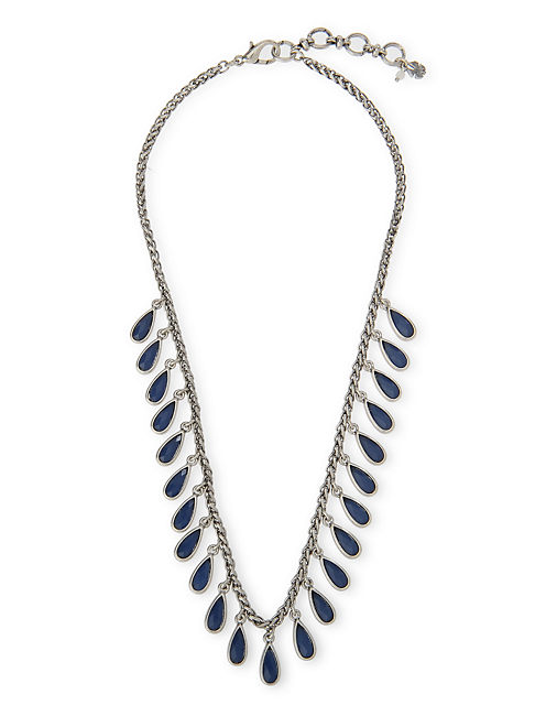 LAPIS COLLAR NECKLACE, SILVER