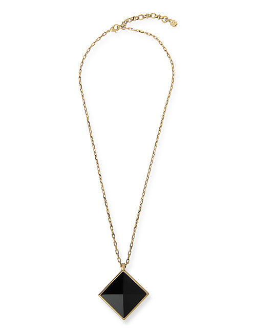 PYRAMID PENDANT NECKLACE, 715 GOLD