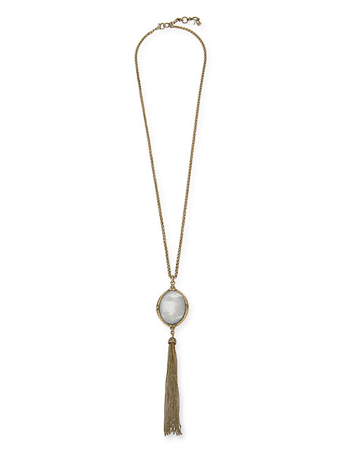 TASSLE NECKLACE, 715 GOLD