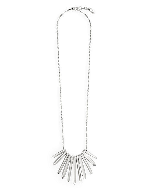 LONG SILVER PADDLE NECK, SILVER