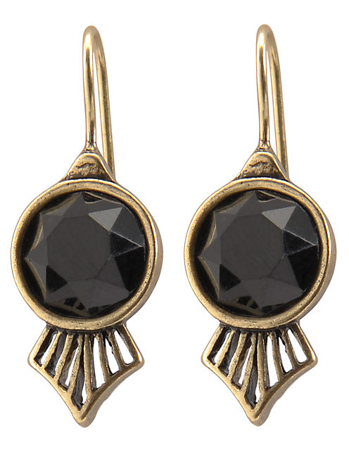 HOOK DROP EARRING, 715 GOLD