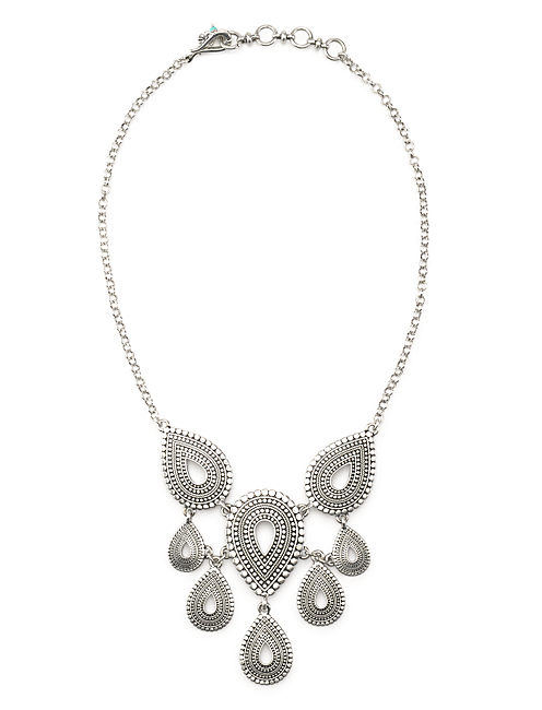 TRIBAL COLLAR NECKLACE, SILVER