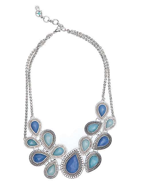 BLUE COLLAR NECKLACE, SILVER