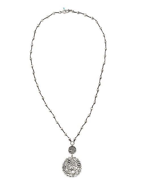 DOUBLE DROP NECKLACE, SILVER