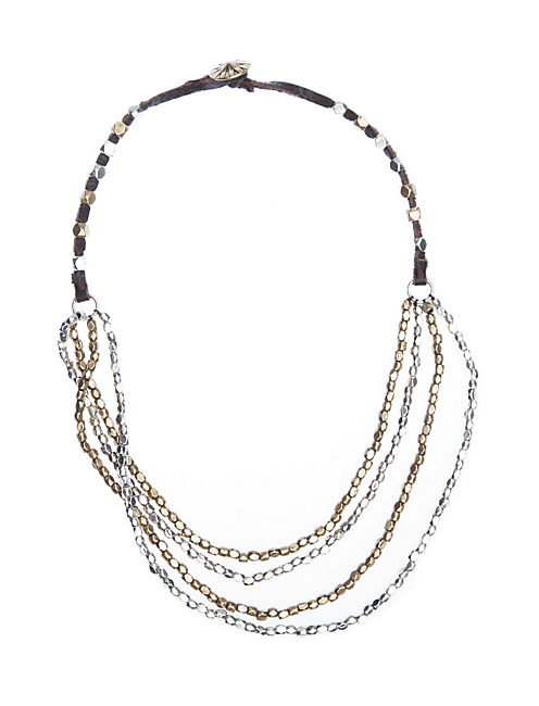 MULTI LAYER BEADED NECK, MULTI