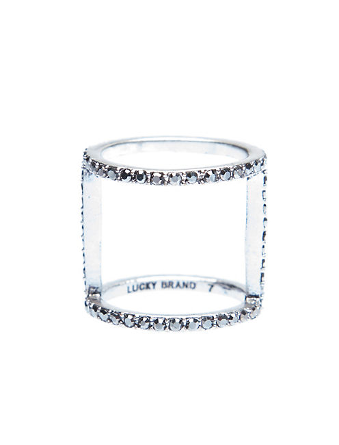 SIMPLE PAVE RING, SILVER