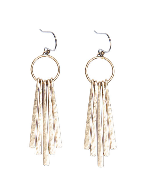 METAL PADDLE EARRING, 715 GOLD