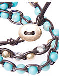 BEADED WRAP BRACELET, TURQUOSIE