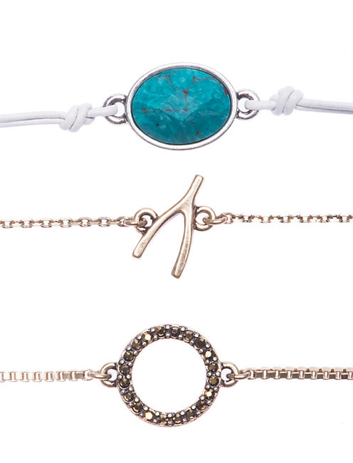 WISHBONE BRACELET SET, MULTI