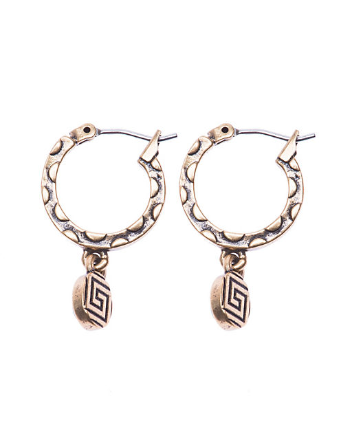 MINI SET STONE HOOP, 715 GOLD