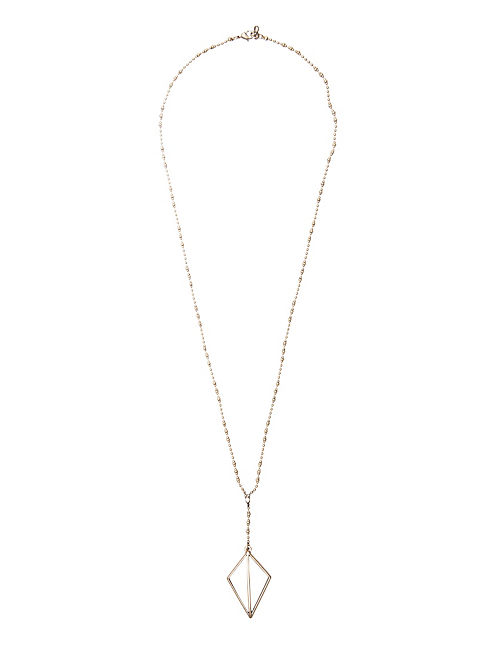 DIAMOND PENDANT NECKLACE, 715 GOLD