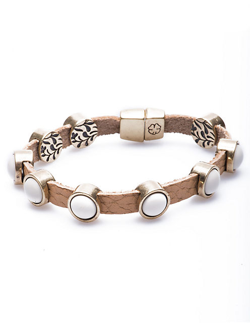 LEAF SLIDE BRACELET, 715 GOLD