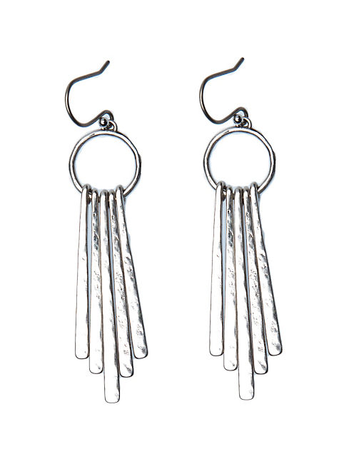 METAL PADDLE EARRING, SILVER