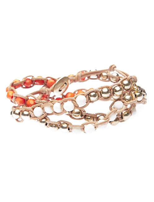BEADED WRAP BRACELET, MULTI