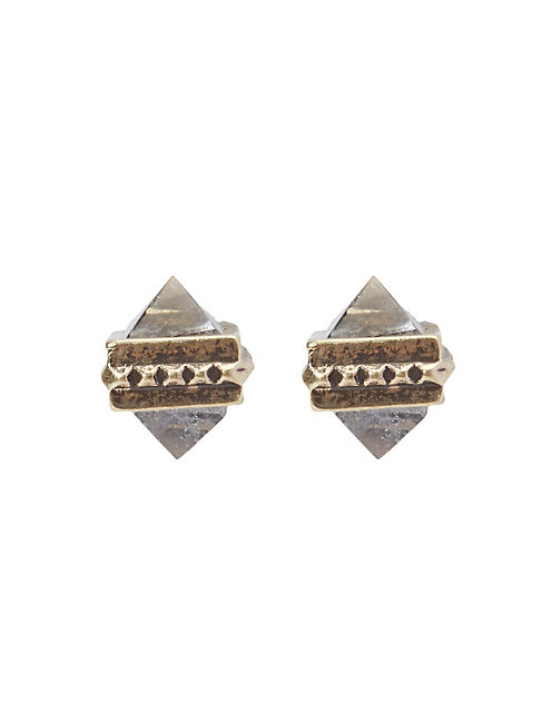 CRYSTAL STUD, 715 GOLD