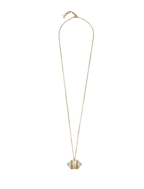 CRYSTAL PENDANT NECKLACE, 715 GOLD