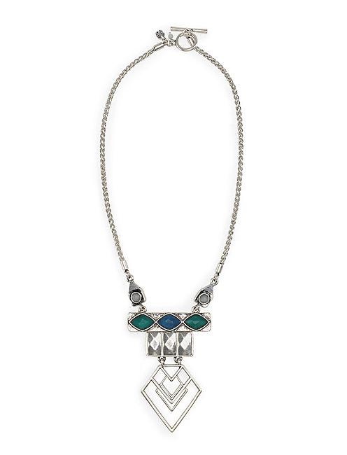 MODERN GEOMETRIC NECKLACE, SILVER