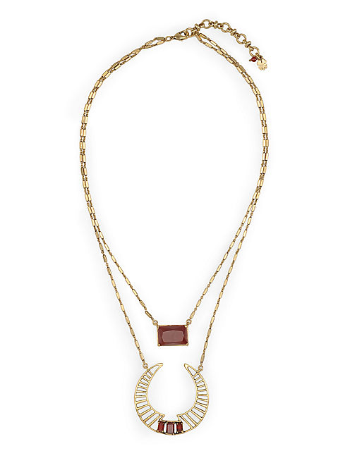 DOUBLE LAYER NECKLACE, 715 GOLD