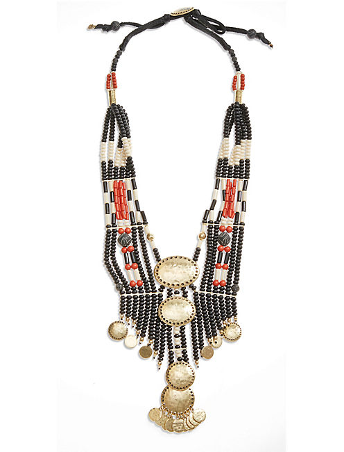 AFRICAN MULTI STRAND NECK, 715 GOLD